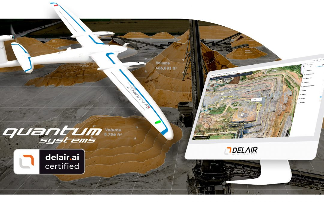 Quantum-Systems' professional drones are now officially approved for use with Delair.ai